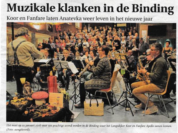 Uit: Langedijker Nieuwsblad 2 december 2015